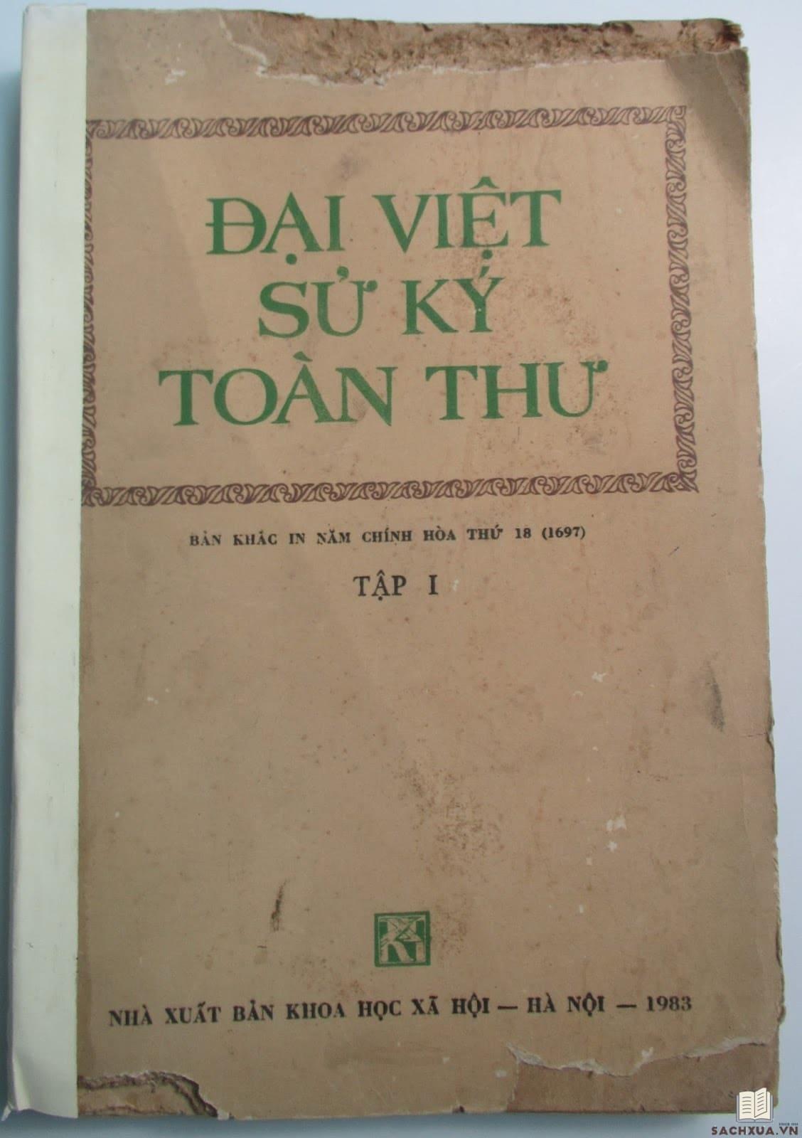 Đại Việt sử ký toàn thư - Sách hiếm in năm 1983